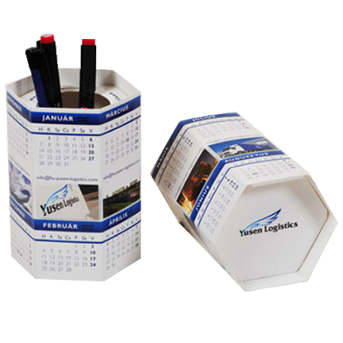 Push-up Pen Pot Calendar 3D Calendar
